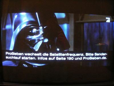 Darth Vader lernt lesen mit ProSieben