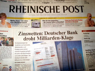 """Rheinische Post"" vom 25. August 2007"