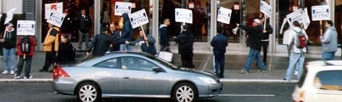 Gewerkschafter in San Francisco, CA