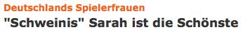 """Deutschlands Spielerfrauen: \""""Schweinis\"""" Sarah ist die Schönste"""