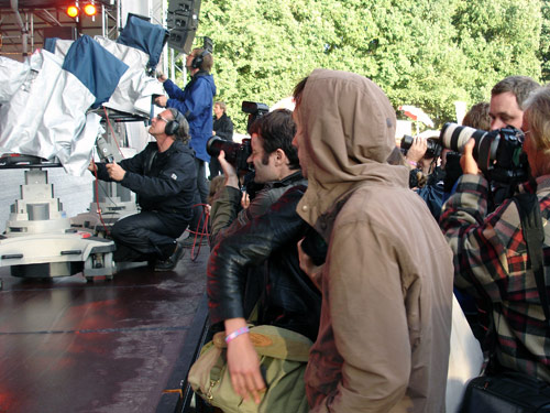 WDR-Kameras beim Haldern Pop 2008
