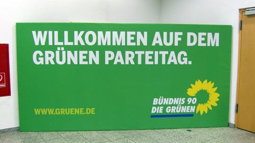 Willkommen auf dem grünen Parteitag