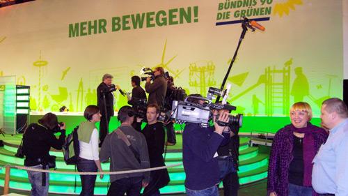 Der aktuelle Bundesvorstand: Reinhard Bütikofer (Mitte) und Claudia Roth (rechts).