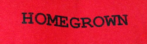 T-Shirt-Aufdruck in fremder Sprache (vielleicht bald verboten).
