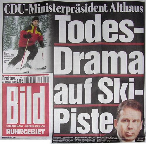 CDU-Ministerpräsident Althaus: Todes-Drama auf Ski-Piste