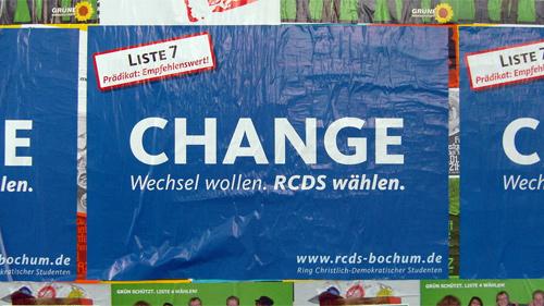 Change. Wechsel wollen. RCDS wählen.