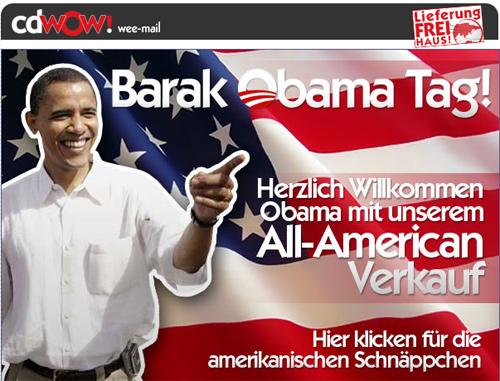 Barak Obama Tag! Herzlich Willkommen Obama mit unserem All-American Verkauf!