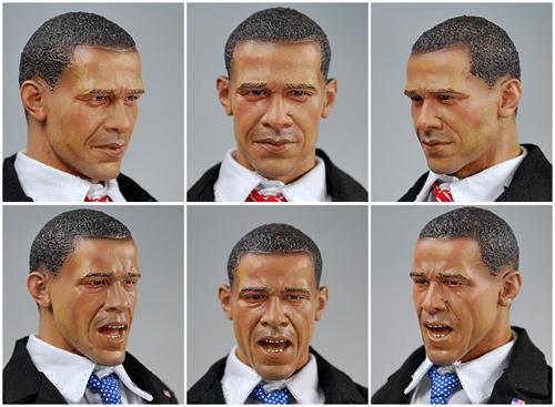 Japanische Obama-Puppe