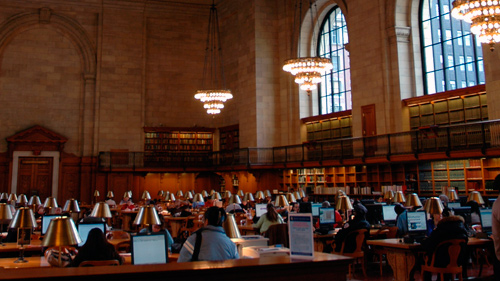 Lesesaal der Public Library in New York City