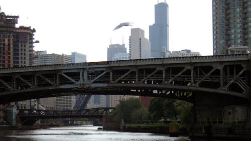 Brücken über den Chicago River in Chicago, IL