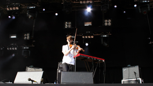 Final Fantasy beim Haldern Pop 2009.
