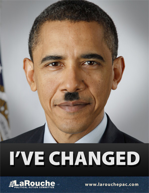 I've changed - Barack Obama mit Hitler-Bärtchen