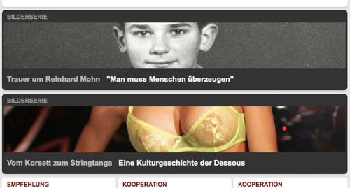 """Bilderserie: Trauer um Reinhard Mohn - """"Man muss Menschen überzeugen"""". Bilderserie: Vom Korsett zum Stringtanga - Eine Kulturgeschichte der Dessous"""