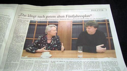 """Seite 5 der """"Frankfurter Allgemeinen Sonntagszeitung"""" vom 29. November 2009"""