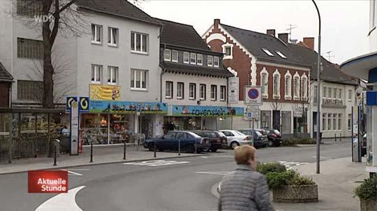 Straße in Kerpen (fast menschenleer).