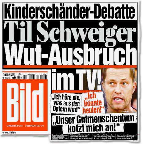 Kinderschänder-Debatte: Til Schweiger: Wut-Ausbruch im TV!