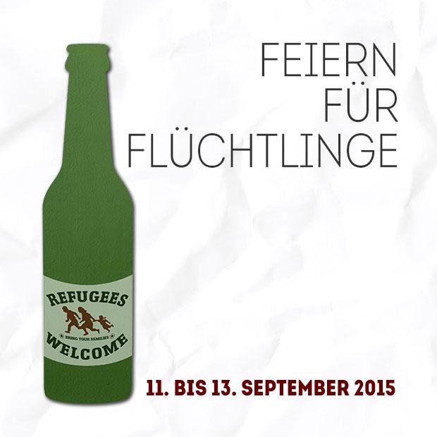 Feiern für Flüchtlinge (Logo)